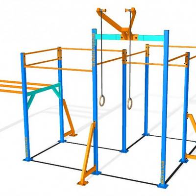 Mobile bar 3D RVL13 Street Workout Parks