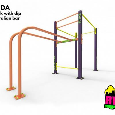 Single rack DDWM RVL13 Street Workout Parks