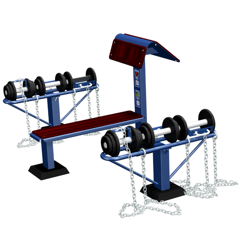 Činky - Dumbell set MB Barbell Street Workout Parks